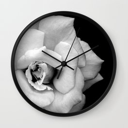 Rose Monochrome Wall Clock