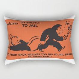 Banksters Go to Jail Rectangular Pillow