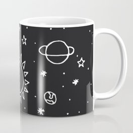 Planets Hand Drawn Coffee Mug