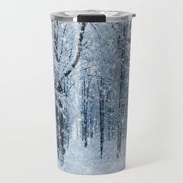 Winter wonderland scenery forest  Travel Mug
