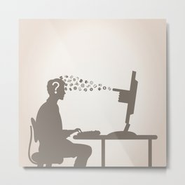Computer and the person Metal Print