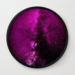 Fuchsia Galaxy Wall Clock