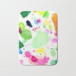 Messy Paint Palette Bath Mat