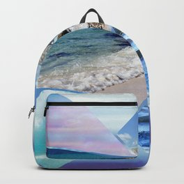 Sea, Sand and Sky Collage Backpack