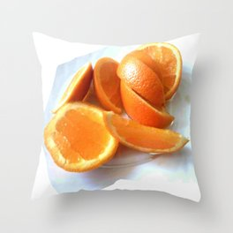 Orange Quarters Throw Pillow
