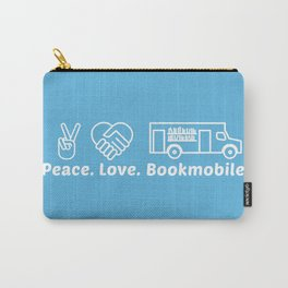 Peace Love Bookmoble Carry-All Pouch