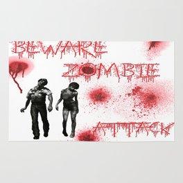 Beware of Zombie Attack Rug