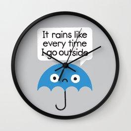 Umbrellativity Wall Clock