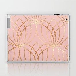 Rose gold millennial pink blooms Laptop & iPad Skin