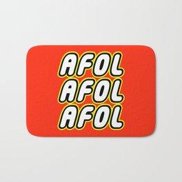 AFOL AFOL AFOL [ADULT FAN OF LEGO] in Brick Font by Chillee Wilson Bath Mat