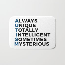 Autism Autistic Unique Intelligent Mysterious Bath Mat