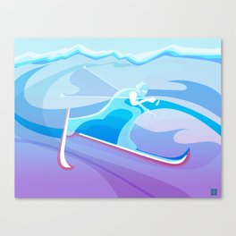 Cross Country Skier abstract Canvas Print