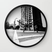 atlanta Wall Clocks featuring Atlanta Downtown by GF Fine Art Photography
