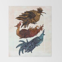 Legendary Birds Throw Blanket