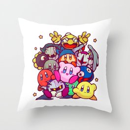 Kirby kirby group Throw Pillow