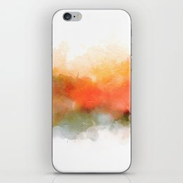 Soft Marigold Pastel Abstract iPhone Skin