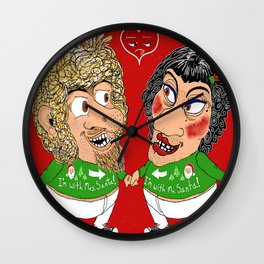 2 ugly Christmas sweaters...1 ugly couple...priceless! Wall Clock