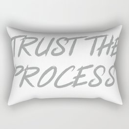 Trust The Process Workout Motivational Design Rectangular Pillow