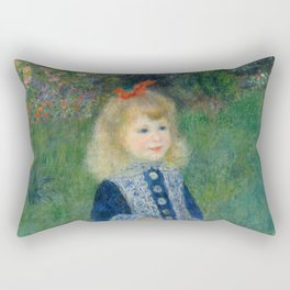 Auguste Renoir A Girl with a Watering Can 1876 Painting Rectangular Pillow
