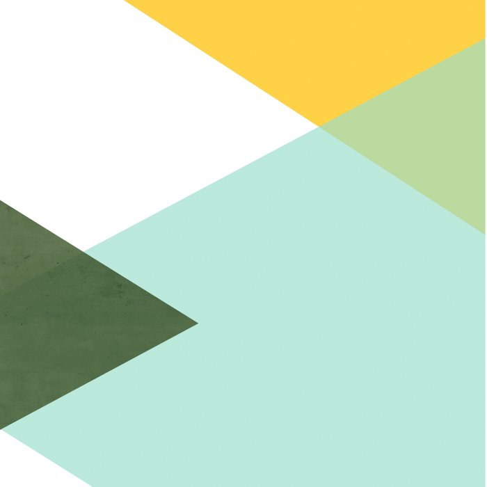 Geometrics - citrus & concrete Duvet Cover