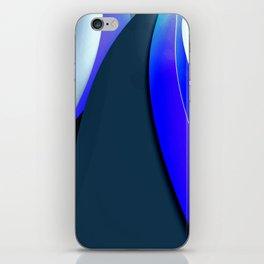 Black and Blue Modern iPhone Skin