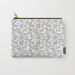 Silver tangram triangle mix Carry-All Pouch