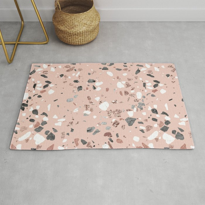 Pink Quartz and Marble Terrazzo Rug by followmeinstead