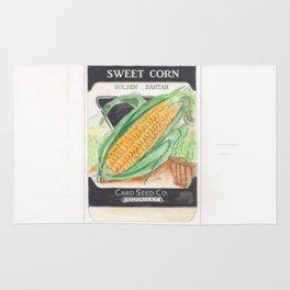 Sweet Corn Seed Packet Rug