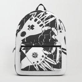 Hidari Gomon and Hajichi - Okinawan Pride - Traditional Tattoo Art Backpack