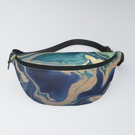 DRAMAQUEEN - GOLD INDIGO MARBLE Fanny Pack