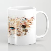 jennifer lawrence Mugs featuring Eyes (Jennifer Lawrence) by Rene Alberto