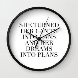 dreams into plans Wall Clock