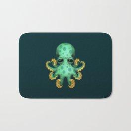Cute Green Baby Octopus Bath Mat