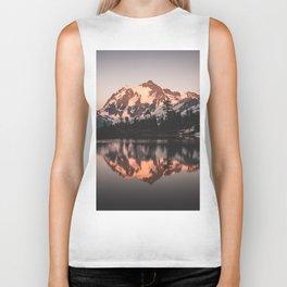Alpenglow - Mountain Reflection - Nature Photography Biker Tank