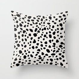 Polka Dots Dalmatian Spots Throw Pillow