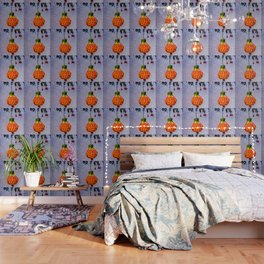 Stained glass and flower pendant Wallpaper