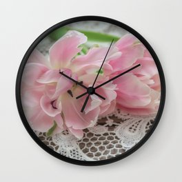 Ruffed Petals Wall Clock
