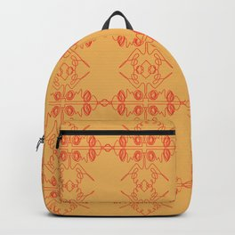 Luxury mandalas red gold Vint. Backpack