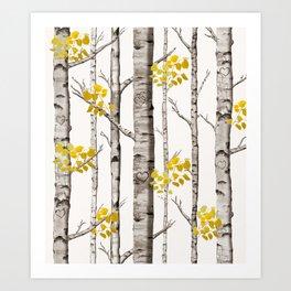 Birch Love Art Print