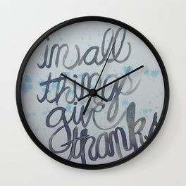 in all things...  Wall Clock