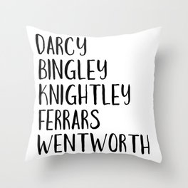 AUSTEN'S MEN Throw Pillow
