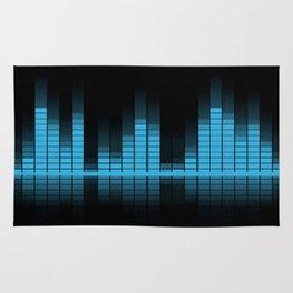 Blue Graphic Equalizer on Black Rug