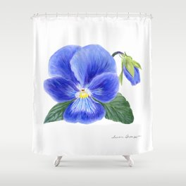 Purple Pansy by Teresa Thompson Shower Curtain