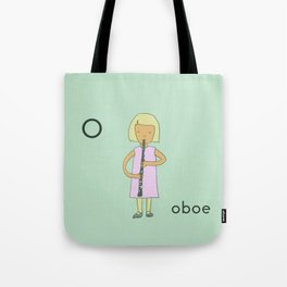O is for Oboe Tote Bag