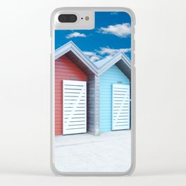 'Beach huts' Northumberland Clear iPhone Case
