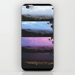 New York Skyline Portrait Time Frames iPhone Skin