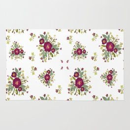 Red Rose Bouquets Rug