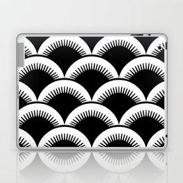 Japanese Fish scales Black and White Laptop & iPad Skin
