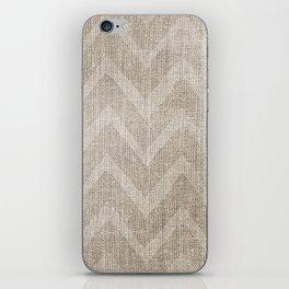 Chevron burlap (Hessian series 1 of 3) iPhone Skin