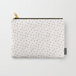 Sweet Peach Polka Dot, White Carry-All Pouch